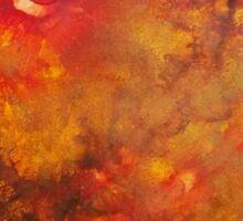 Brown Orange Texture Mixed Media painting Sticker