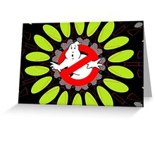 Ghostbusters behind Print Greeting Card