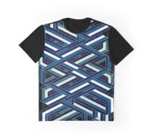 Isometric poetry print - blue and green Graphic T-Shirt