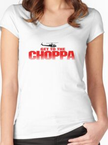 GET TO THE CHOPPA - PREDATOR  Women's Fitted Scoop T-Shirt