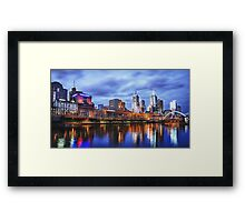 Melbourne From Southbank Framed Print