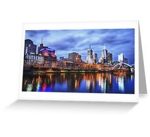 Melbourne From Southbank Greeting Card