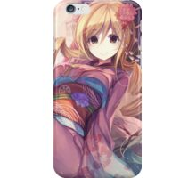 Anime Girl Traditional iPhone Case/Skin