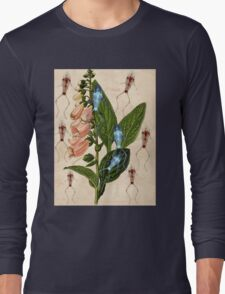 Frogs Frolicking In Foxgloves Long Sleeve T-Shirt