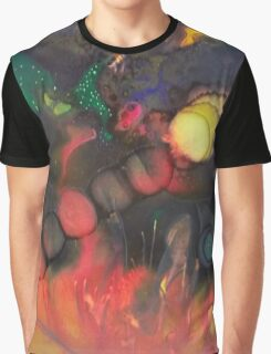 Dark Mixed Media Abstraction Graphic T-Shirt