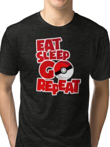 Eat Sleep Go Repeat - Red (Pokemon Go) Tri-blend T-Shirt