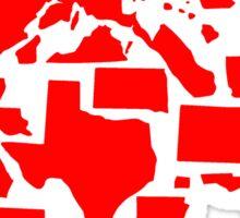 Vote Red Elephant US States Sticker