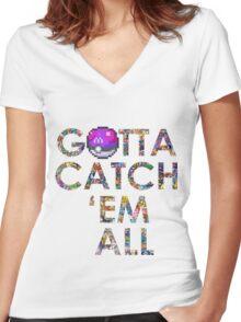 Pokemon - Gotta catch 'em all! Women's Fitted V-Neck T-Shirt