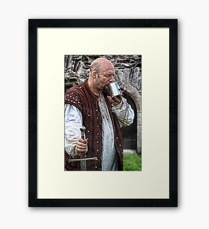 A Cold Beer Framed Print