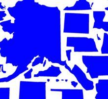 Vote Blue Donkey US States Sticker