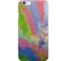 Green Pink Blue Purple Painting iPhone Case/Skin