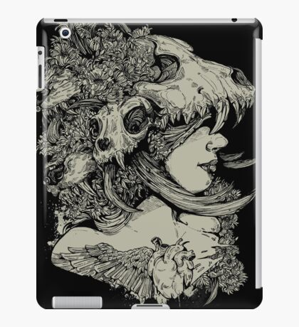 Gia Girl Black iPad Case/Skin