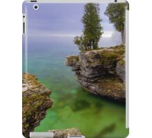Misty Morning at Cave Point, Wisconsin iPad Case/Skin