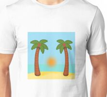 Beach Sunrise Scene Unisex T-Shirt