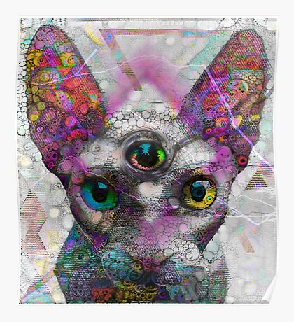 Alien Cat Poster
