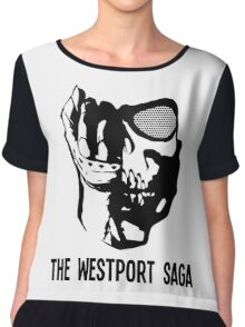 Westport Logo with Text Chiffon Top