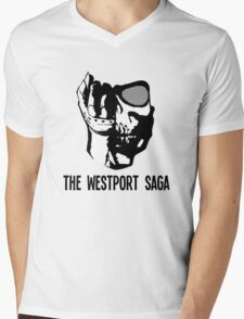Westport Logo with Text Mens V-Neck T-Shirt