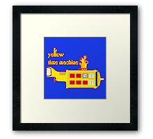 YELLOW TIME MACHINE PILLOW  Framed Print