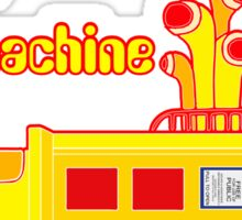 YELLOW TIME MACHINE PILLOW  Sticker