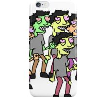 zombie horde iPhone Case/Skin