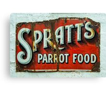 Spratts Parrot Food Canvas Print