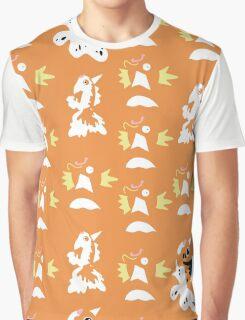 Pokemon Magikarp Goldeen Seaking Pattern Graphic T-Shirt