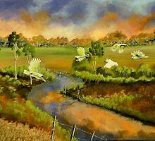 The Flight  by Sandra  Sengstock-Miller
