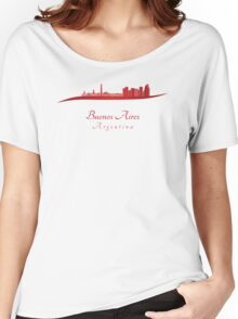 Buenos Aires Argentina Skyline Women's Relaxed Fit T-Shirt