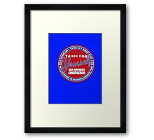 Think For Yourself Framed Print