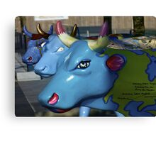 Three Cows on Parade, Ebrington Sq, Derry Canvas Print