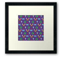 For the Horde! Cartoon Pattern Framed Print