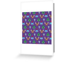 For the Horde! Cartoon Pattern Greeting Card