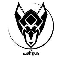 Wolfgun (Geometric Logo) Photographic Print