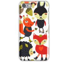 Woodland animals and birds iPhone Case/Skin