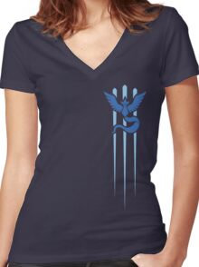 Team Mystic - Pokemon GO (Trident) Women's Fitted V-Neck T-Shirt