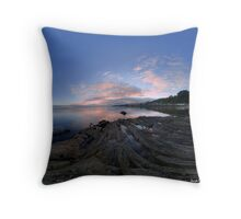 Dusk Shoreline near Moville, Donegal (Rectangular) Throw Pillow