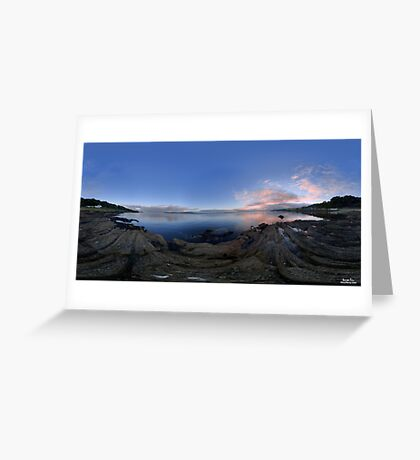 Dusk Shoreline near Moville, Donegal (Rectangular) Greeting Card