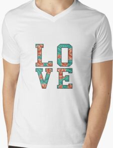 LOVE ROSE  Mens V-Neck T-Shirt