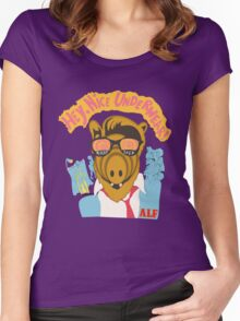 Lord help us, he's back in his pink Alf shirt Women's Fitted Scoop T-Shirt