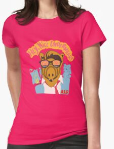 Lord help us, he's back in his pink Alf shirt Womens Fitted T-Shirt