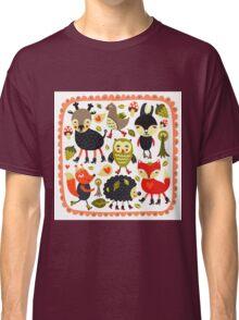 Woodland animals and birds Classic T-Shirt