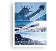 Planet of the Apes - Beware the Beast Man Canvas Print
