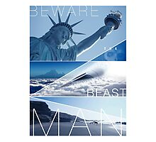 Planet of the Apes - Beware the Beast Man Photographic Print