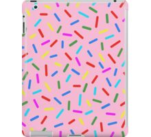 Bright Colorful Rainbow Sprinkles In Pink iPad Case/Skin