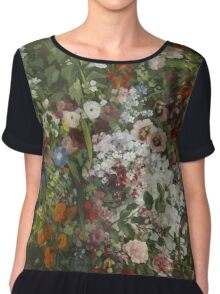 Bouquet of Flowers Chiffon Top