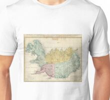 Vintage Map of Iceland (1761) Unisex T-Shirt
