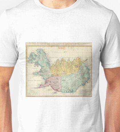 Vintage Map of Iceland (1761) Unisex T-Shirt