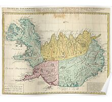Vintage Map of Iceland (1761) Poster