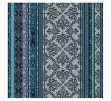 Teal, Aqua & Grey Vintage Bohemian Wallpaper Kids Clothes