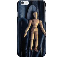 Artists Mannequin on a bed of crows feathers iPhone Case/Skin